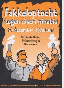 Fakkeloptocht tegen discriminatie 2015