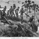 Tekening van het wegbrengen van slaven in Afrika