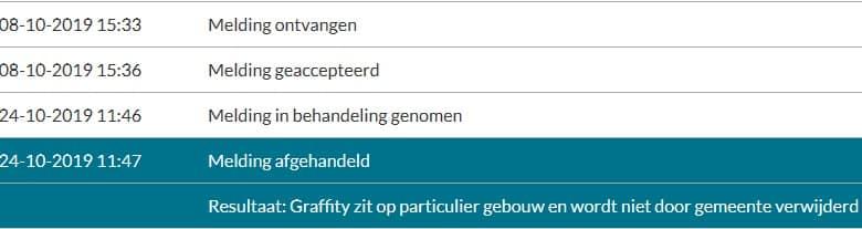 Verslag van de gemeente Zaanstad over het niet weghalen van discriminerende graffiti