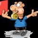 Tekening van een scheidsrechter die de rode kaart trekt