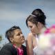 Twee vrouwen op hun trouwdag