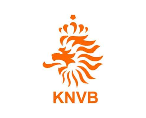 Het logo van de KNVB