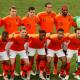 Het niet knielende Nederlands elftal