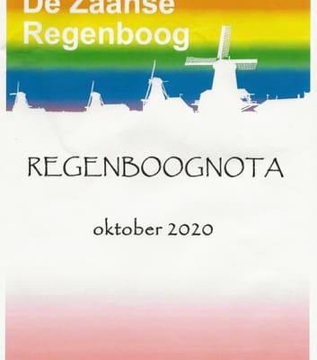 Omslag van de Zaanse Regenboognota